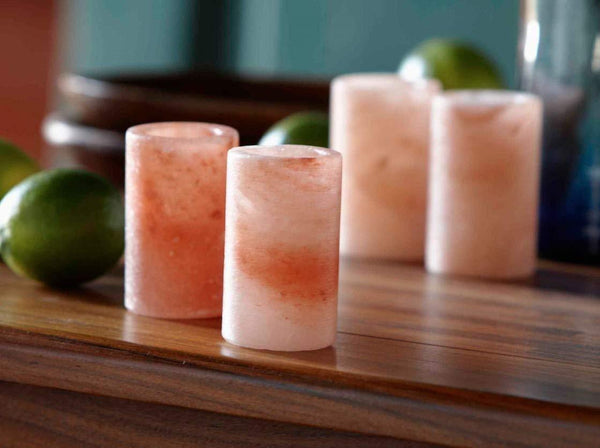 Wonderful Scents Himalayan Salt Shot Glasses 4 Pack Table Side