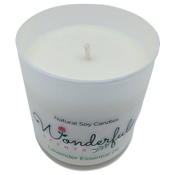 Wonderful Scents Lavender Tumbler Candle 11 oz Cotton Wick Showing