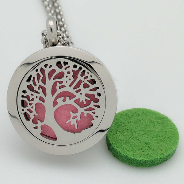 Wonderful Scents Modern Tree of Life Pendant Necklace For Essential Oil Diffusing