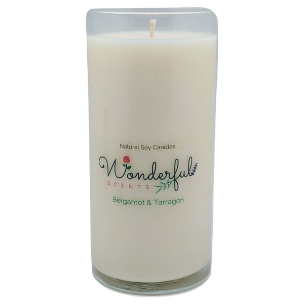 Wonderful Scents Never Ending Soy Candle Bergamot and Tarragon