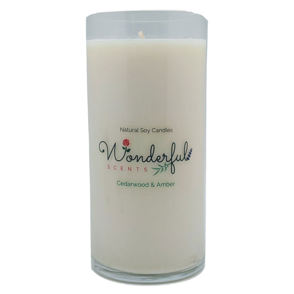 Wonderful Scents Never Ending Soy Candle Cedarwood and Amber