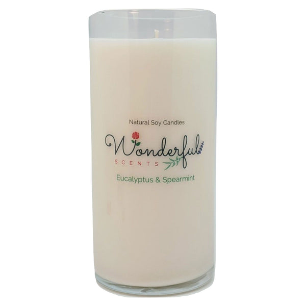 Wonderful Scents Never Ending Soy Candle Eucalyptus and Spearmint