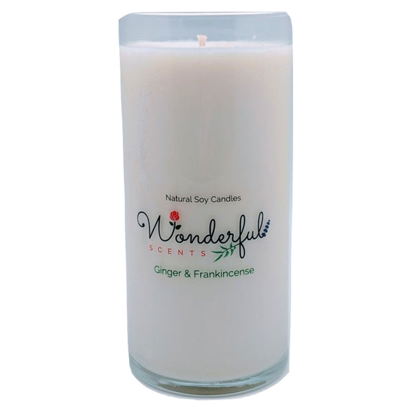 Wonderful Scents Never Ending Soy Candle Ginger and Frankincense