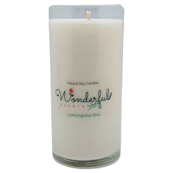 Wonderful Scents Never Ending Soy Candle Lemongrass Kiwi