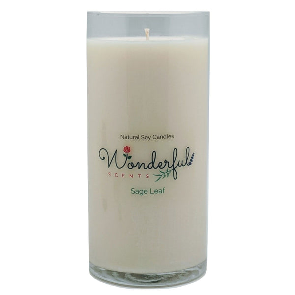 Wonderful Scents Never Ending Soy Candle Sage Leaf