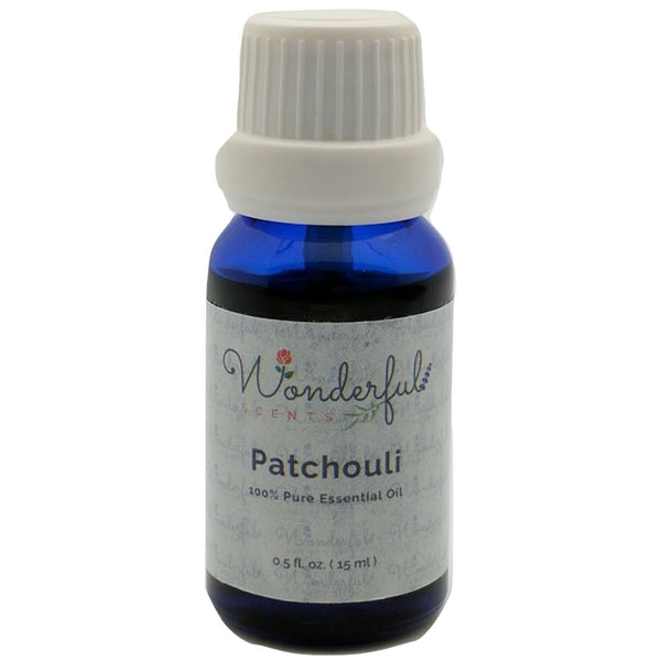 Wonderful Scents Patchouli Essential Oil 15 ml Bottle