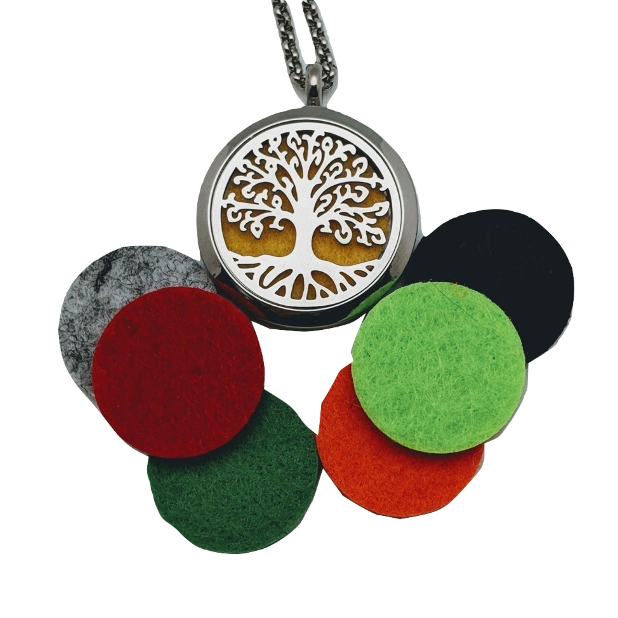 Wonderful_Scents Tree of Life Pendant with 7 Felt Pads