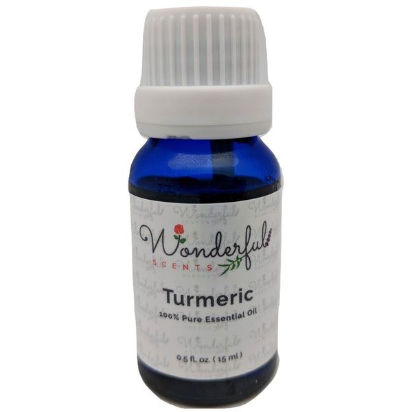 Wonderful Scents Tumeric Essential Oil 15 ml Bottle New Label