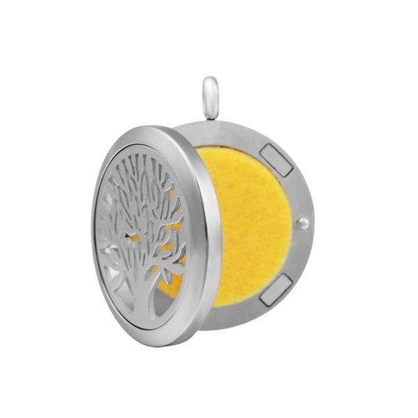Stainless Steel Essential Oil Locket Diffuser Open - 25mm