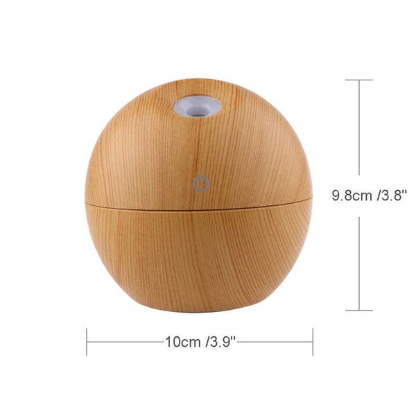 Dimension of 130 ml Essential Oil USB Diffuser with LED