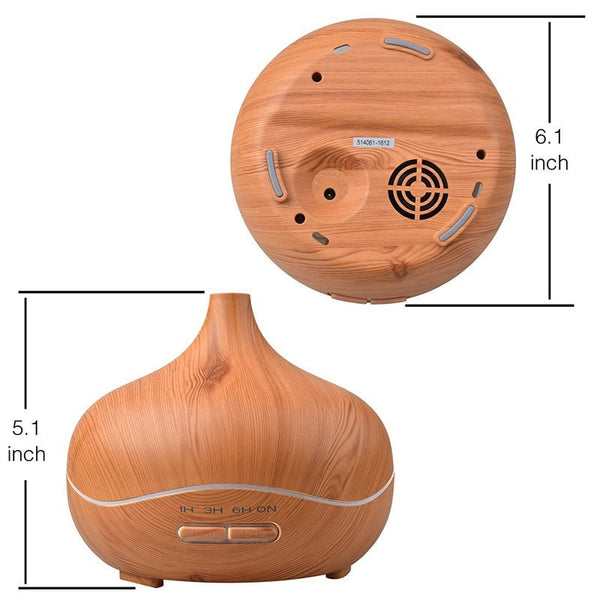 Dimensions for the 300 ml Light Wood Grain Ultrasonic Aroma Essential Oil Diffuser