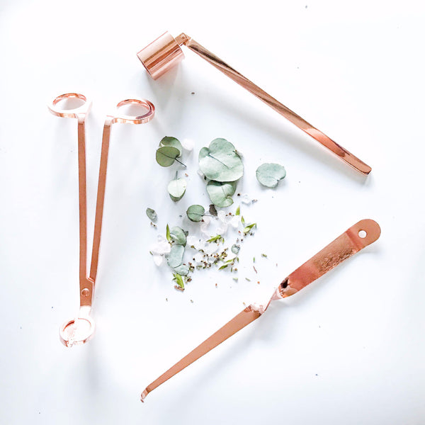 Rose Gold Copper Candle Trimmer Snuffer Kit