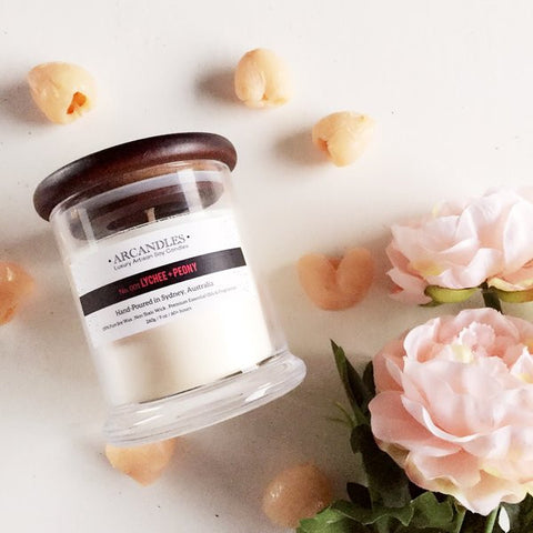 001 Lychee + Peony Candle