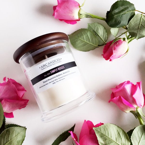 005 Simply Roses Candle Mini