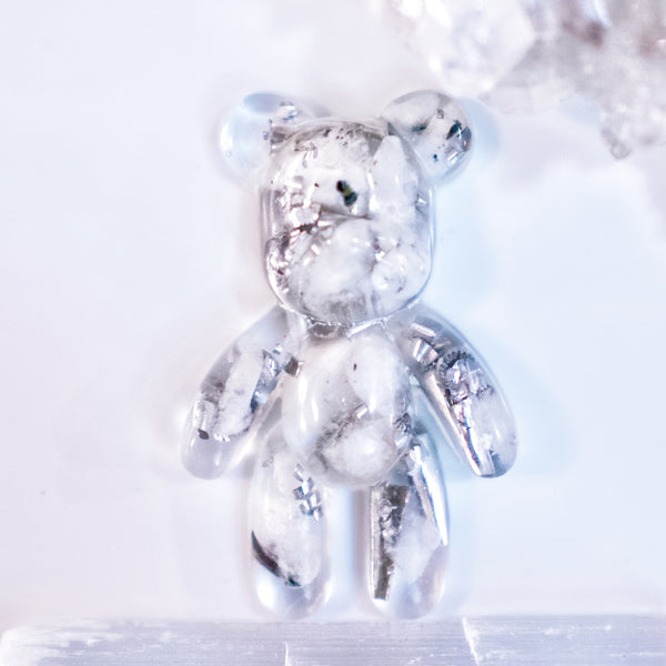 Teddy Bear Shape Orgonite | Moonstone | Crown Chakra