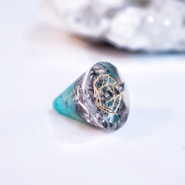 Mini Orgonite | Amazonite | Throat Chakra