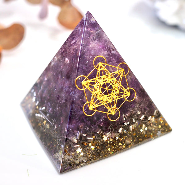 Pyramid Orgonite | Amethyst | Third Eye Chakra