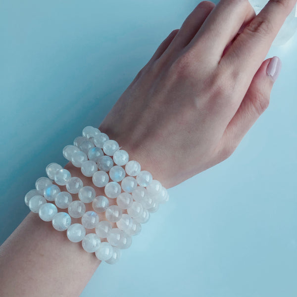 Moonstone Bracelet (Blue Light)