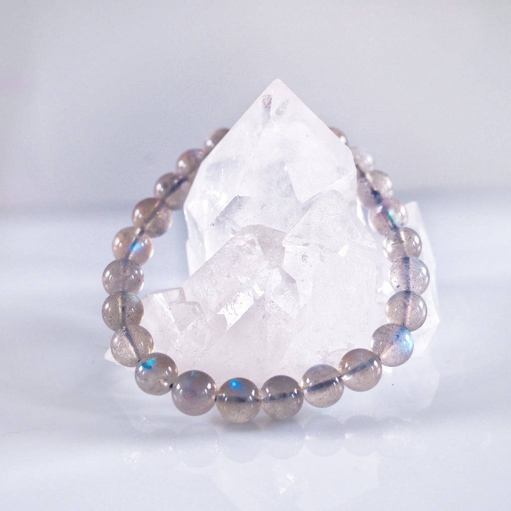 Labradorite Bracelet (With Blue Light)