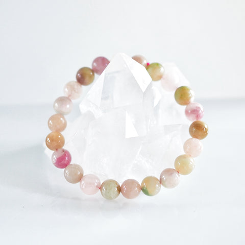 Watermelon Tourmaline Bracelet 10mm