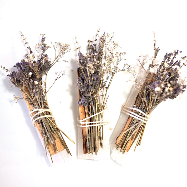 Palo Santo Selenite Smudge Sticks