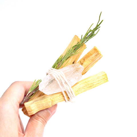 Palo Santo Rosemary Crystal Bundle