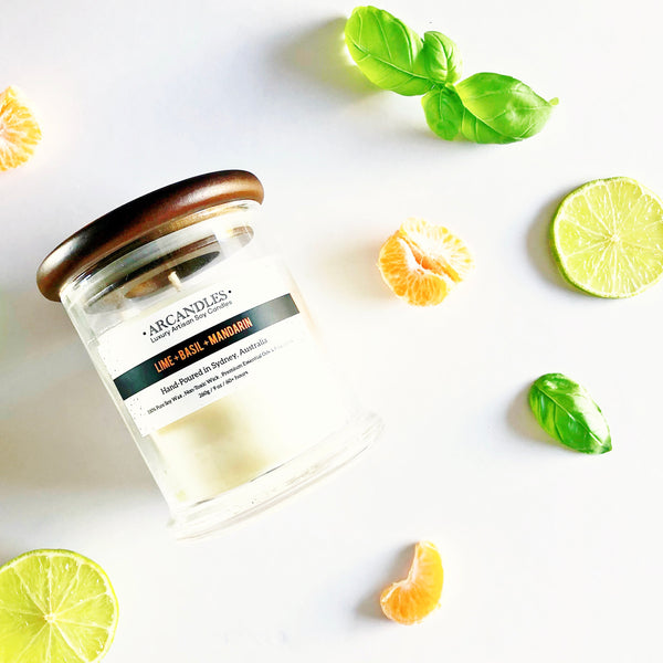 Special Edition - Lime + Basil + Mandarin Candle Mini