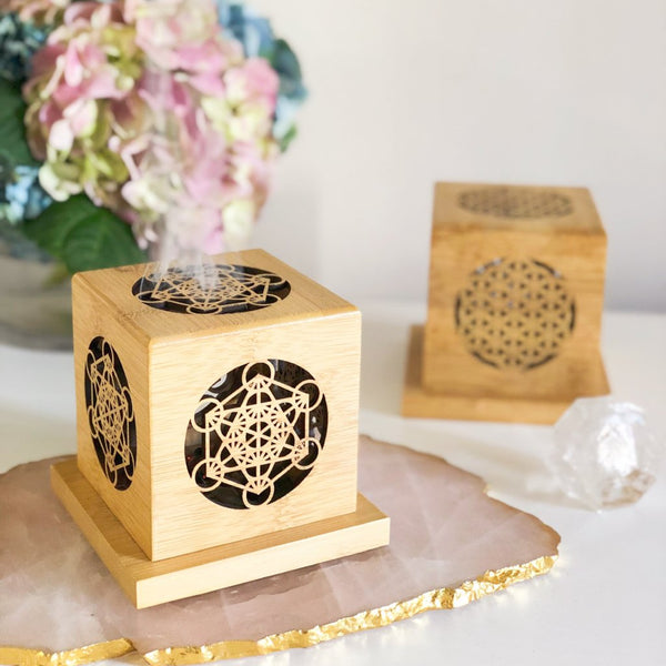 Sacred Geometry Smudge Box Kit - Metatron's Cube