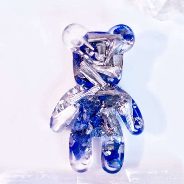 Teddy Bear Shape Orgonite | lapis Lazuli | Throat Chakra