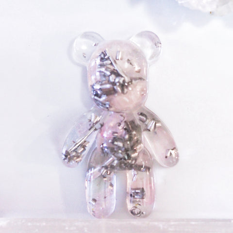 Teddy Bear Shape Orgonite | Rose Quartz | Heart Chakra