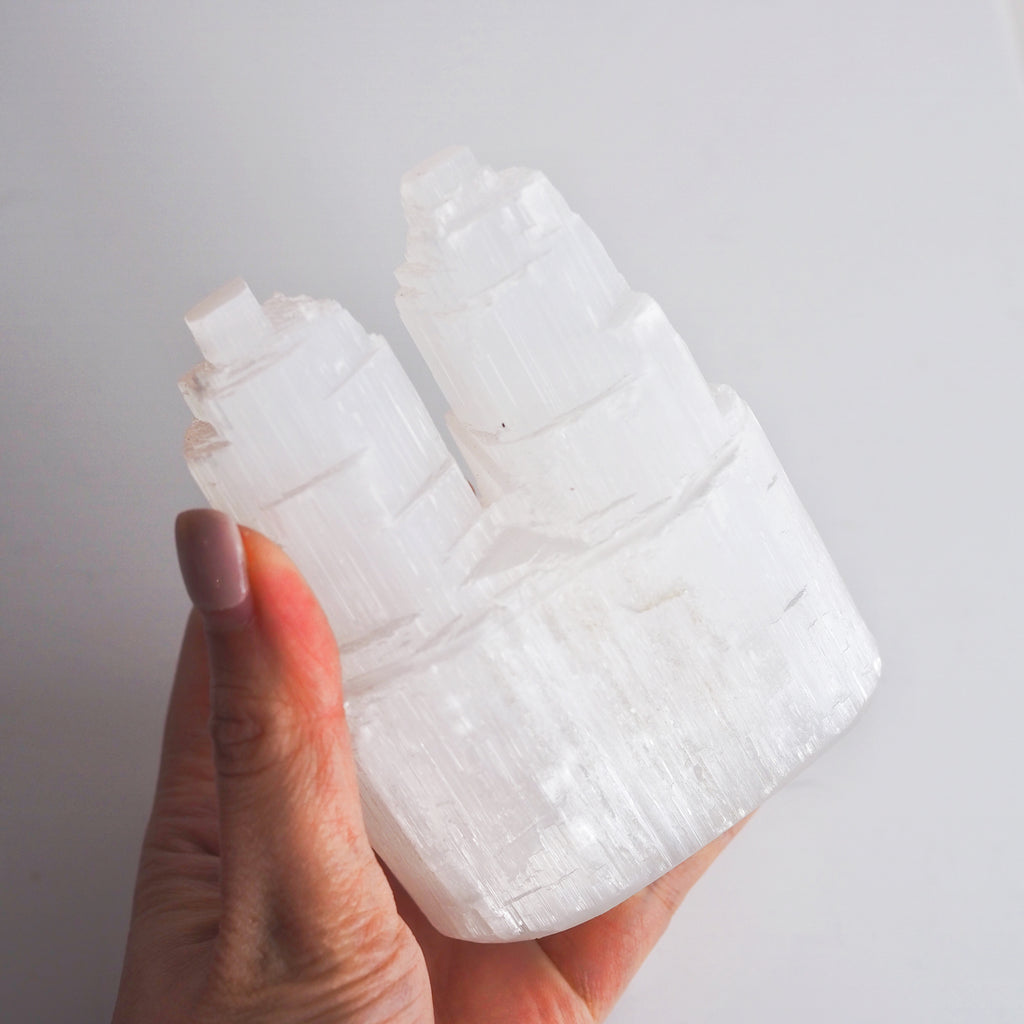 Selenite Twin Tower