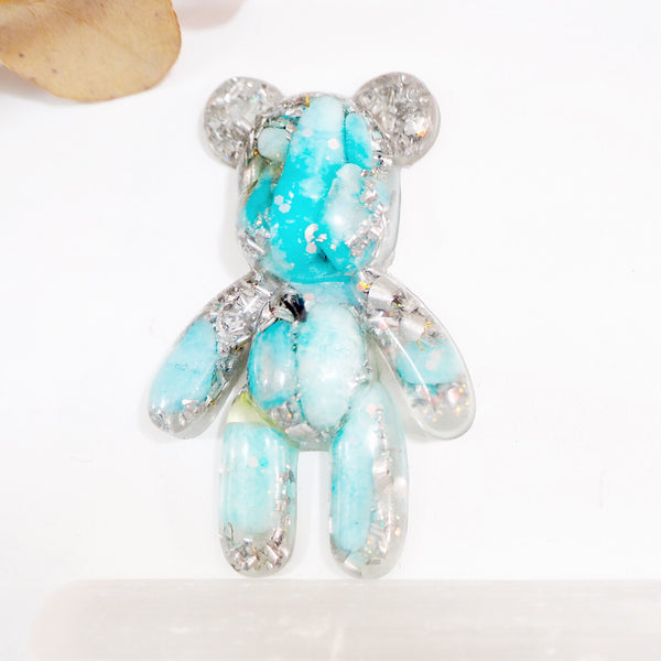 Teddy Bear Shape Orgonite | Amazonite | Throat Chakra