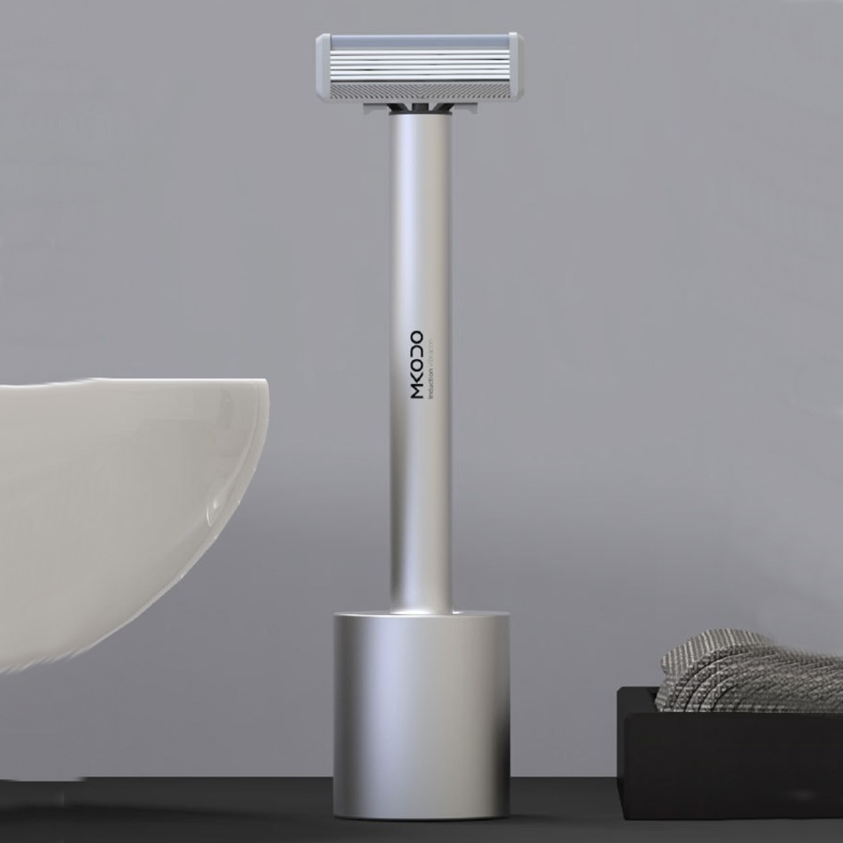 Men's Dual-mode Shaver, with Sensor Switch, Manual and Automatic Integration, Aluminum Body and Long Standby Design