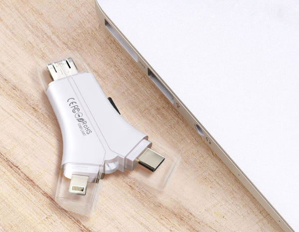 4 in 1 USB Reader And Flash Drive - Connect And Store Everything On A Single Piece