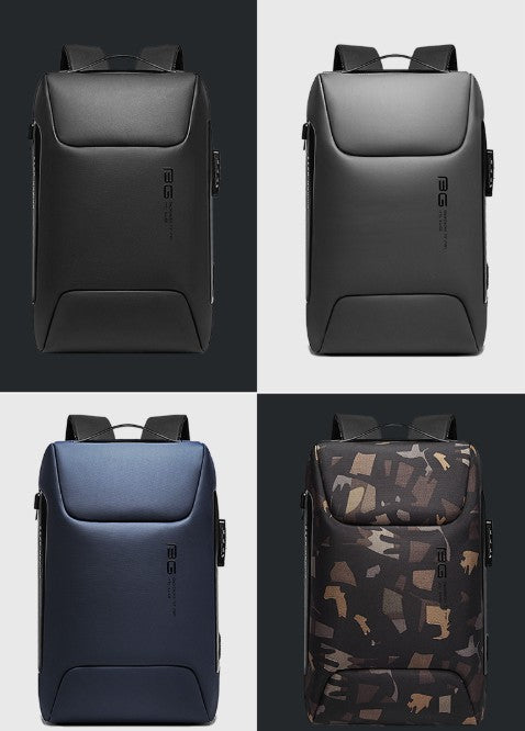 Large Capacity Waterproof Backpack, with 15.6'' Laptop Storage, Anti-theft Lock, USB Charging Port and Breathable Fabric, for Work, Travel and More