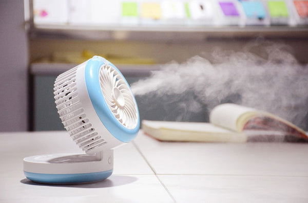 3-in-1 Fan & Humidifier & Power Bank - Cool Air and Power on the Go