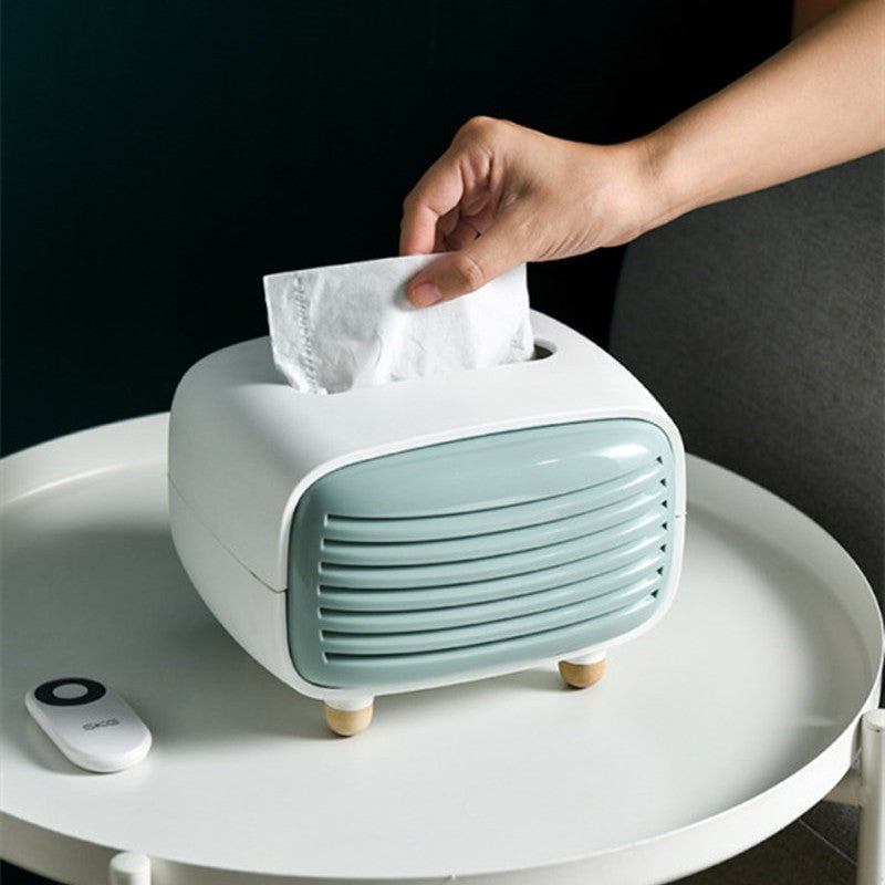 Easy-to-use Retro Tissue Box with Bamboo Charcoal Purification Pouch, for Home & Office