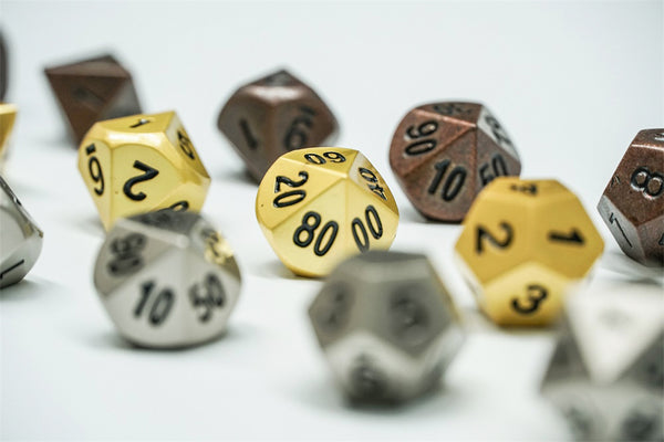 See If You Can Even Your Own Odds with Cool & Fancy Full Set of Metal Dice