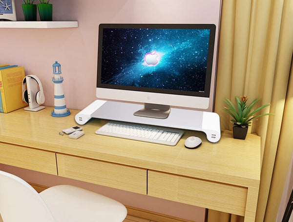 Modern Monitor/Laptop Stand with USB Ports - Designed for Maximum Comfort