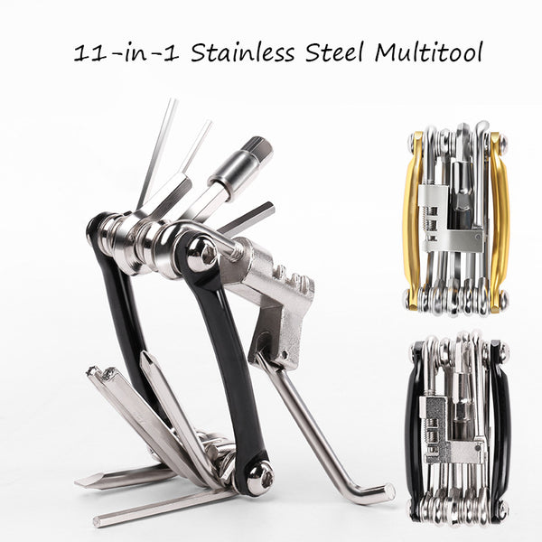 Fix More and Carry Less with this 11-in-1 Pocket-friendly Stainless Steel Multitool