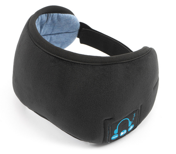 Bluetooth 5.0 Sleeping Eye Mask with Built-in Speakers Microphone, for Home, Office and Travel