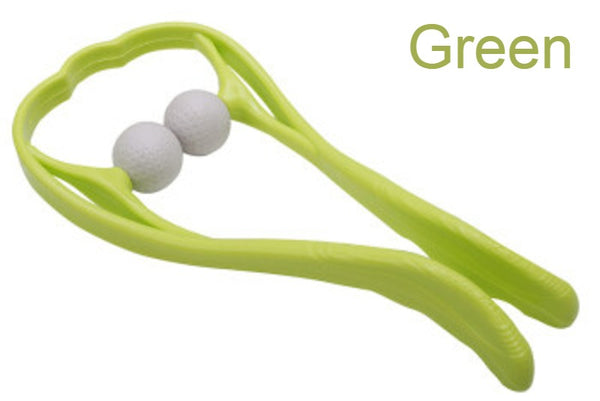 U Shape Manual Neck Massager, with Two Massager Balls and Ergonomic Design, for Neck, Shoulder, Thigh and More