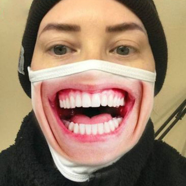 Funny Big Mouth Face Mask, Fun for Halloween or Anytime (1pc)