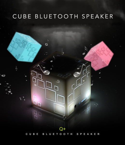 Q+ Cube Wireless Bluetooth Speaker with Build-in Microphone