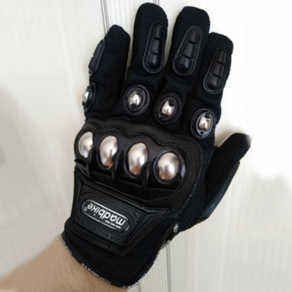 Motorcycle Leather Gloves, with Anti-clip Palm, Breathable Fabric & Anti-impact Joint Protection, for Riding, Racing & More