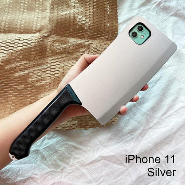 Soft Silicone Creative Cleaver-shaped Phone Case, for iPhone 11/11 pro/11 pro Max/X/Xr/Xs Max