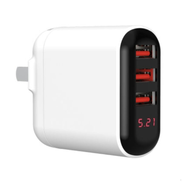 3-Port Portable Wall Charger, with Max 18W Fast Charging, Multi Protections & Foldable Plugs, for Phone, Tablet & More