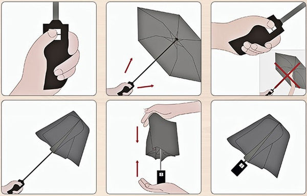 Automatic Sun & Rain Umbrella, with Anti UV Coating, Large Canopy & Anti-slip Handle, for Travel, Commute & More