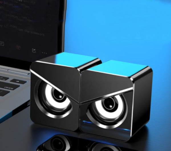 Mini Computer Stereo Speaker Set, with High-quality Sound & USB Wired Connection, for Working, Gaming & Streaming