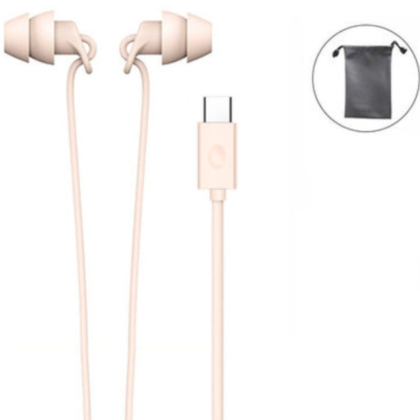 In-ear Silicone Headphones, with Noise Reduction, Integrated, Lightweight & Wire Control, for Sleeping, Working & Studying